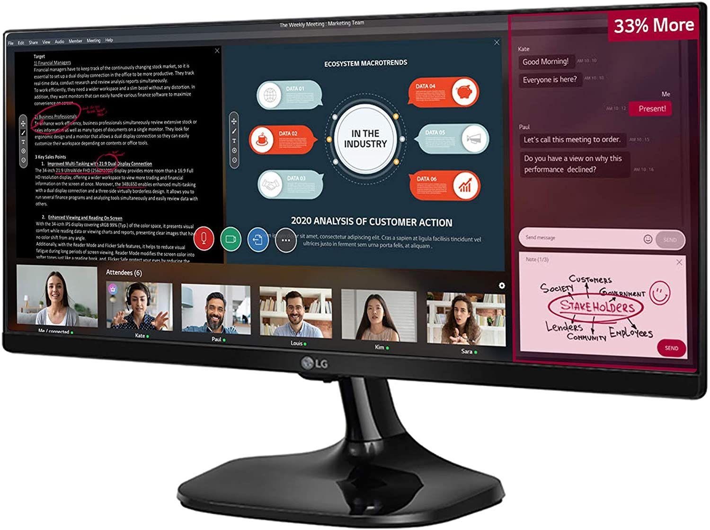 LG 25UM58 25 inch Ultrawide FHD IPS Monitor (2560x1080, HDMI, 250 cd/m2, 5ms) - £125.68 @ Amazon