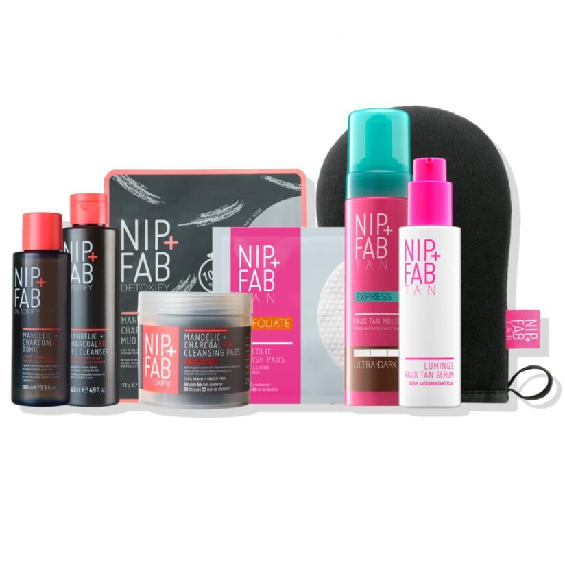 Nip + Fab The Flawless Tan & Tone Haul + Free Glycolic Fix Polish Pads £49.99 delivered @ Nip + Fab
