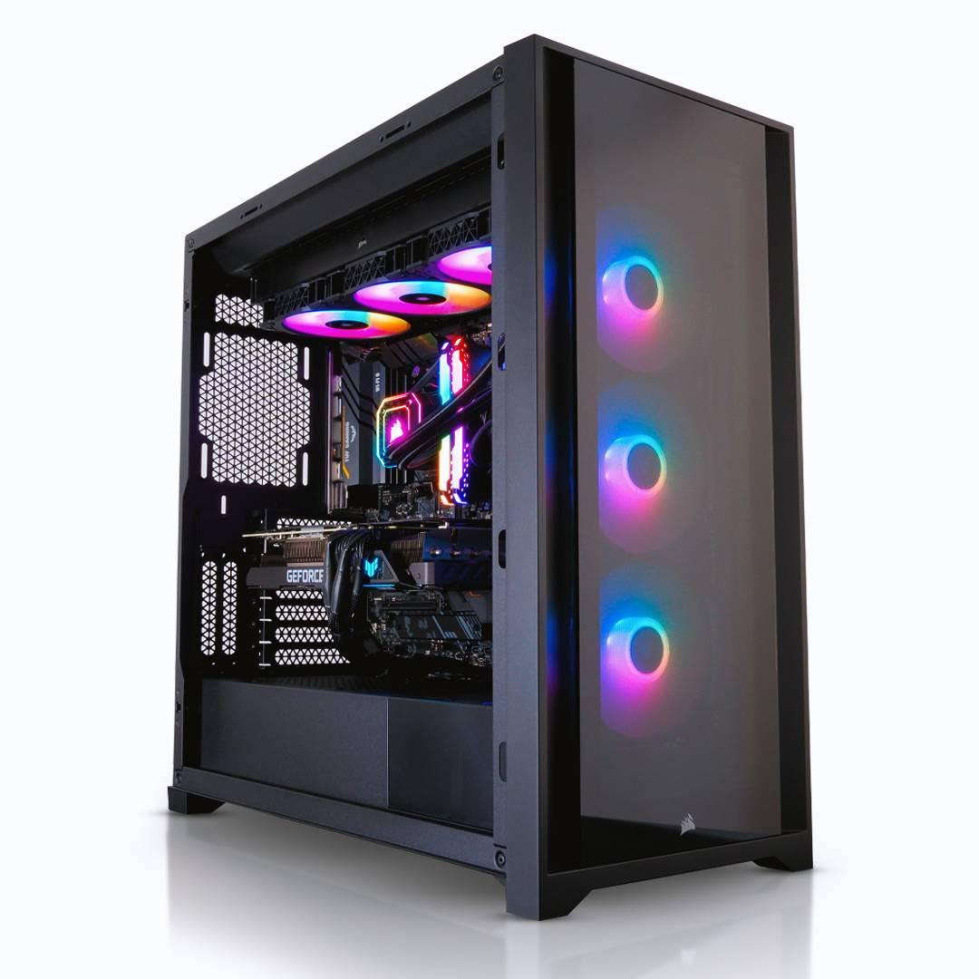 AWD Corsair iCUE 5000X RGB VANTABLACK Ryzen 7 5800X - RTX 3080 10GB Desktop PC for Gaming £2394.95 @ AWD-IT