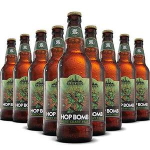 Sadlers Hop Bomb American IPA 8 x 500ml bottles £8.95 Prime / £7.61 subscribe and save / +£4.49 Non Prime @ Amazon