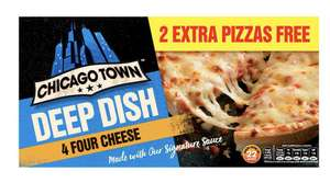 4x Chicago Town Four Cheese Deep Dish Pizzas only £1.50 @ Iceland