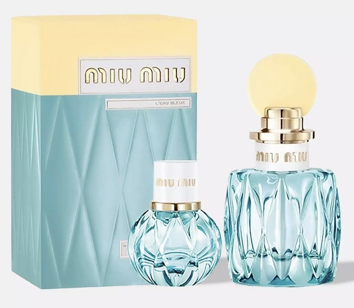 miu miu l'eau bleue eau de parfum 100ml & 20ml gift set £22.50 + £3.99 Delivery @Missguided