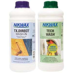 Tech Wash and TX.Direct Duo Pack (2x1L)(£5 mandatory membership required) £15 + delivery @ Go Outdoors