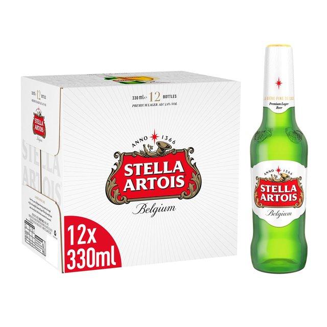 Stella Artois Premium Lager Beer Bottles 12 x 330ml @ Morrisons