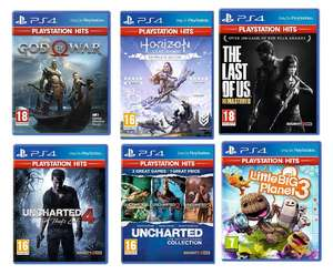 God of War /Horizon Zero Dawn/Uncharted 4/The Last of Us Remastered/Uncharted Collection/Little Big Planet 3 (PS4) £7.99 each @ Smythstoys
