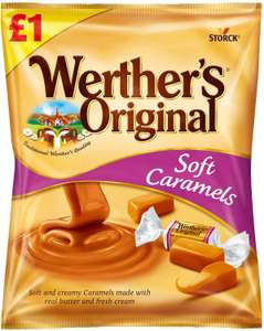 Werthers Original Soft Caramels Sweets - Pack of 12 x 110G £5.40 (£4.49 p&p non prime) £5.14 s&s @ Amazon