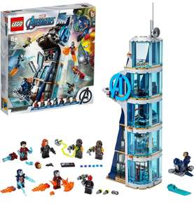 LEGO Marvel 76166 Avengers Tower Battle Set with Iron Man, Black Widow & Red Skull £55.97 at Amazon
