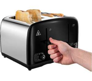 Russell Hobbs Cavendish 4 Slice toaster (3 Colours - Black / Cream / Red) £19.99 @ Currys PC World