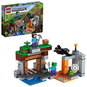 LEGO Minecraft 21166 The Abandoned Mine Building Set, Zombie Cave with Slime, Steve and Spider Figures £12.97 Prime / £17.46 NP @ Amazon