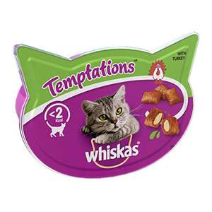 Whiskas Temptations - Tasty, Cat Treats, Small Bite Size Snacks with A Delicious Turkey Filling,8 x 60 g £4.14 (+£4.49 NP) @ Amazon