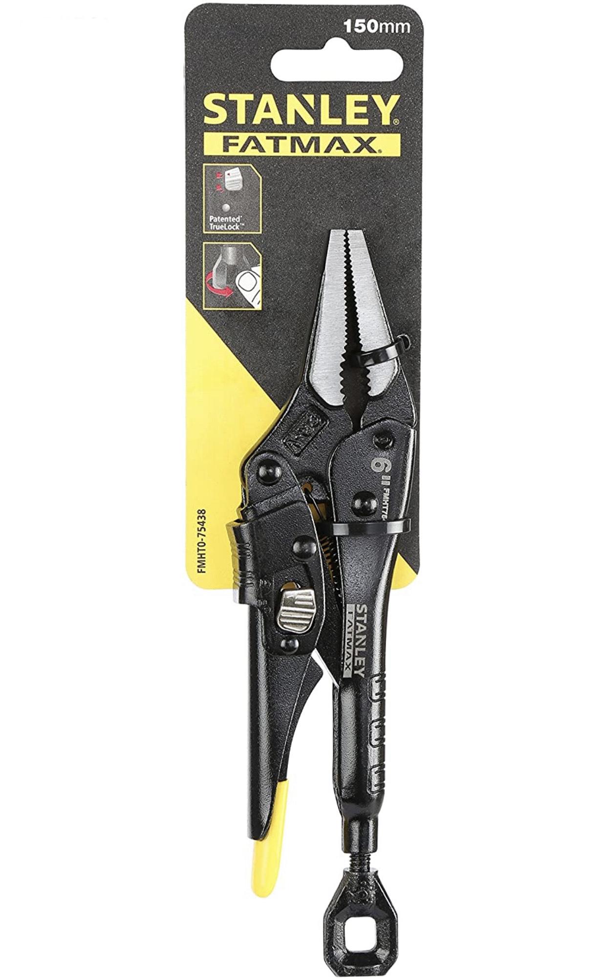 STANLEY FMHT0-75438 150 mm Fatmax Locking Mole Grip Long Nose Pliers - Black - £14.50 (+£4.49 Non Prime) @ Amazon
