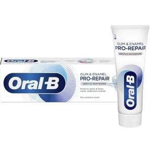 6 x Oral-B Enamel Repair Or Sensitive Gentle Whitening Toothpaste 75ml £7 - Free Click & Collect @ Superdrug