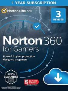 Norton 360 License for Gamers 2021 - 1 year / 3 devices