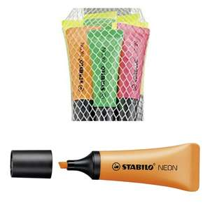 Highlighter - STABILO NEON Pack of 8 Assorted Colours £3.09 prime / 5 pack £1.77 (£4.49 p&p non prime) @ Amazon