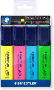 STAEDTLER Textsurfer Classic 364 Highlighter - Assorted Colours, Pack of 4 £1.71 (£4.49 p&p non prime) @ Amazon