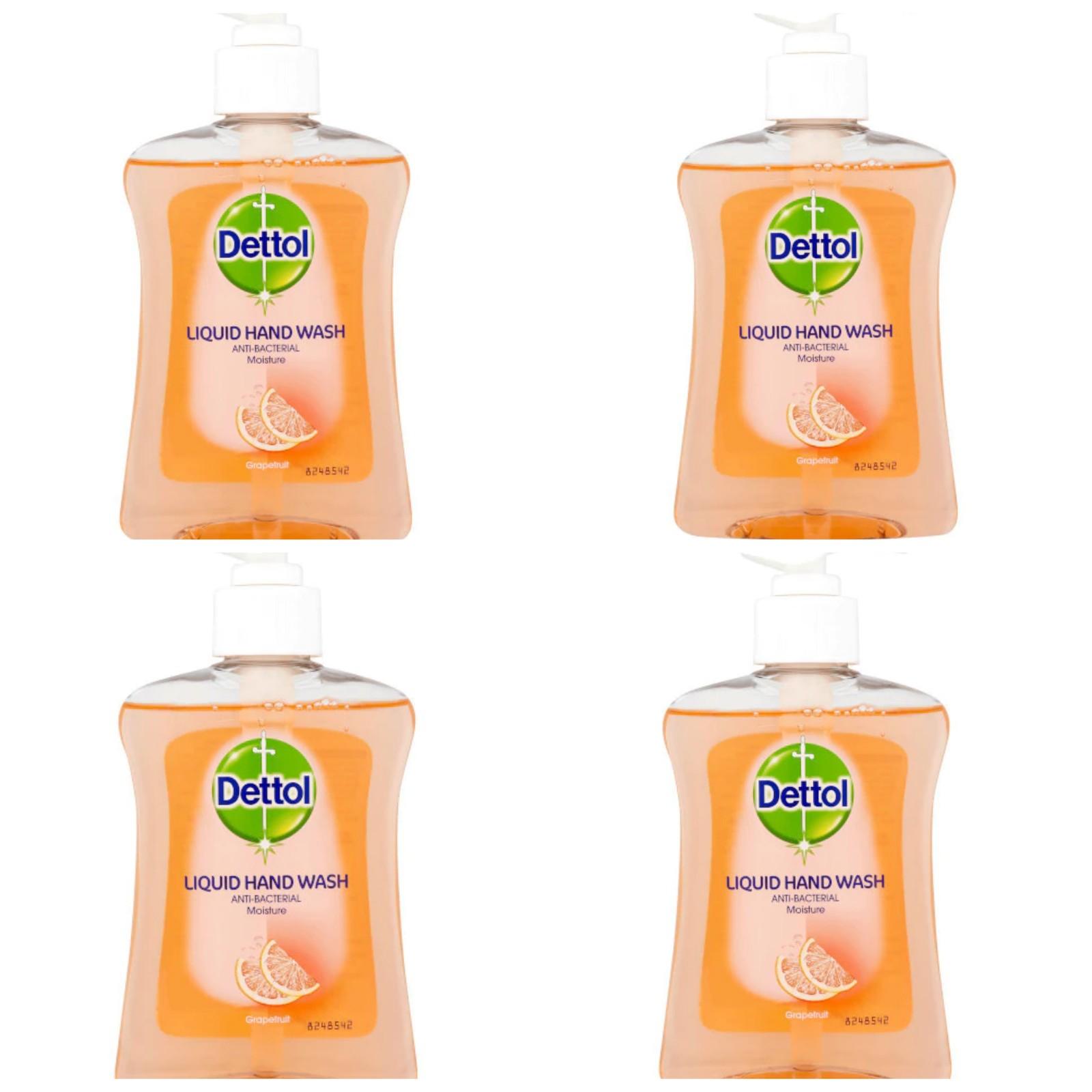 Dettol Moisture Handwash Grapefruit 250ml Pack of 4 - Now £3.60 (+£4.49 non prime) @ Amazon