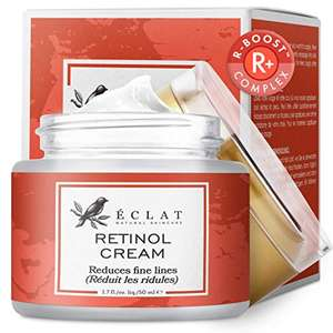 Retinol Moisturizer, Cold Processed Anti-Ageing Cream £7.87 (+£4.49 non Prime) Sold by Eclat Skincare and Fulfilled by Amazon