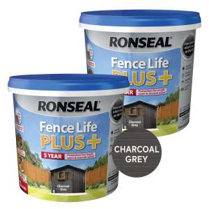 2 x 5L Fencelife Plus Charcoal Grey or Slate (Ready Mixed) £20 @ Brewers