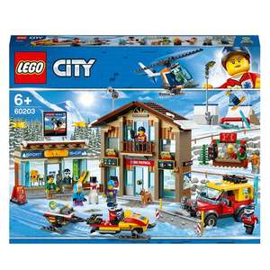 LEGO 60203 City Ski Resort with Helicopter & Snowplow Truck @ Smyths Toys Limited availability