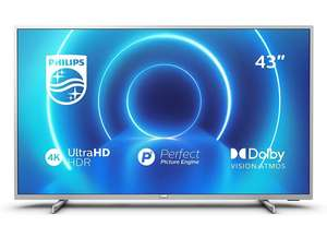 Philips 43PUS7555/12 43-Inch TV (4K UHD TV, P5 Perfect Picture Engine, HDR 10+ Supported, Smart TV) - £299 @ Amazon