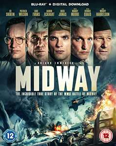 Midway Blu-ray with Dolby Atmos £3.82 (+£2.99 Non Prime) @ Amazon