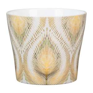 Peacock plant pot cover 11cm £1 free click & collect at selected Homebase stores (limited stock)