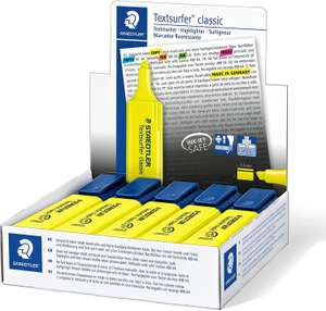STAEDTLER Textsurfer Classic 364 Highlighter - Yellow, Pack of 10 £3.18 (£4.49 p&p non prime) Amazon