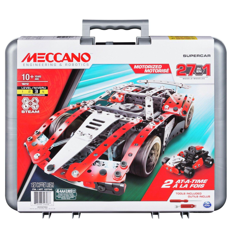 Meccano 27-in-1 Supercar S.T.E.A.M Building Set £18 (free Click & Collect / £3.95 Delivery) @ Argos