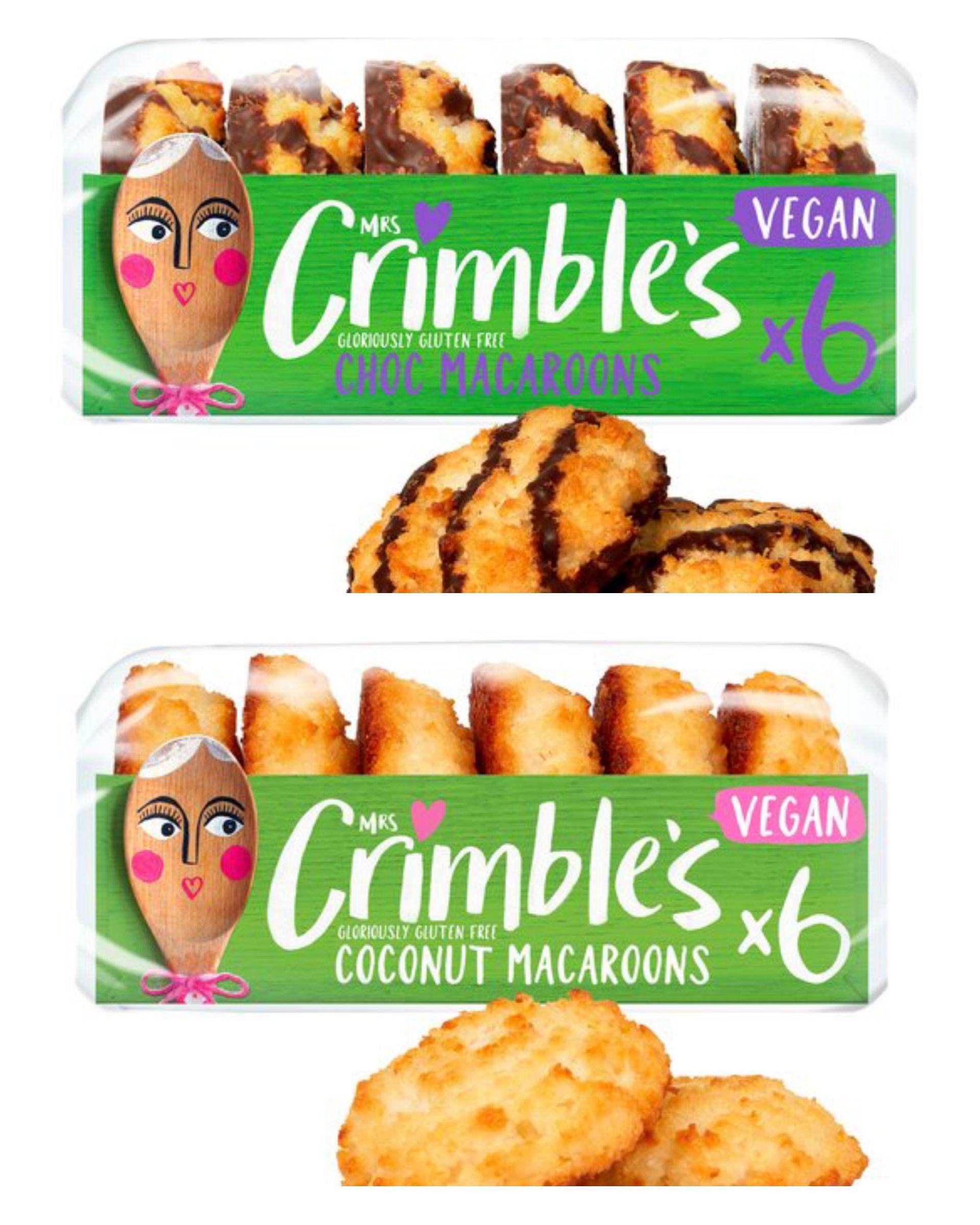 Mrs Crimbles 6 Gluten Free Vegan Chocolate Macaroon 195G/Gluten free £1 @ Tesco clubcard price