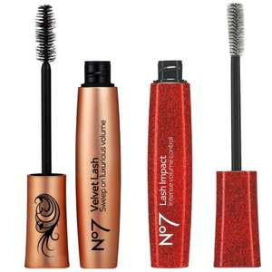 Deal Stack:1/2 price & 3 for 2 on No7 Velvet Lash / Lash Impact Mascaras (£1.50 Collection) @ Boots
