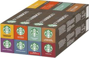 3x Starbucks Nespresso 8 Flavours Variety Pack 120 Capsules (360 servings) (BBE 28.02.2021) £30 @ Approvedfood