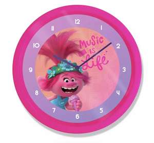 Trolls Wall Clock for £6 with Click and Collect (or +£3.95 delivery) @ Argos