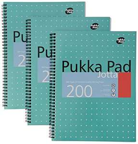 3 Pack - Pukka Pads A4 Metallic Jotta Wirebound Notebook - £5.27 (+£4.49 Non-Prime) @ Amazon