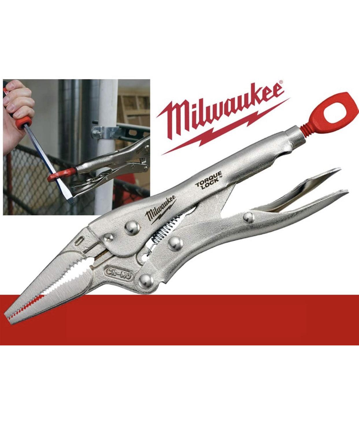 """Milwaukee 48223509 Long Nose Locking Pliers 9"""" Silver £18.63 (+£4.49 nonPrime) Amazon"""