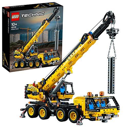 LEGO Technic 42108 Mobile Crane Truck Toy, Construction Vehicles Building Set 72108 £63.99 @ Amazon