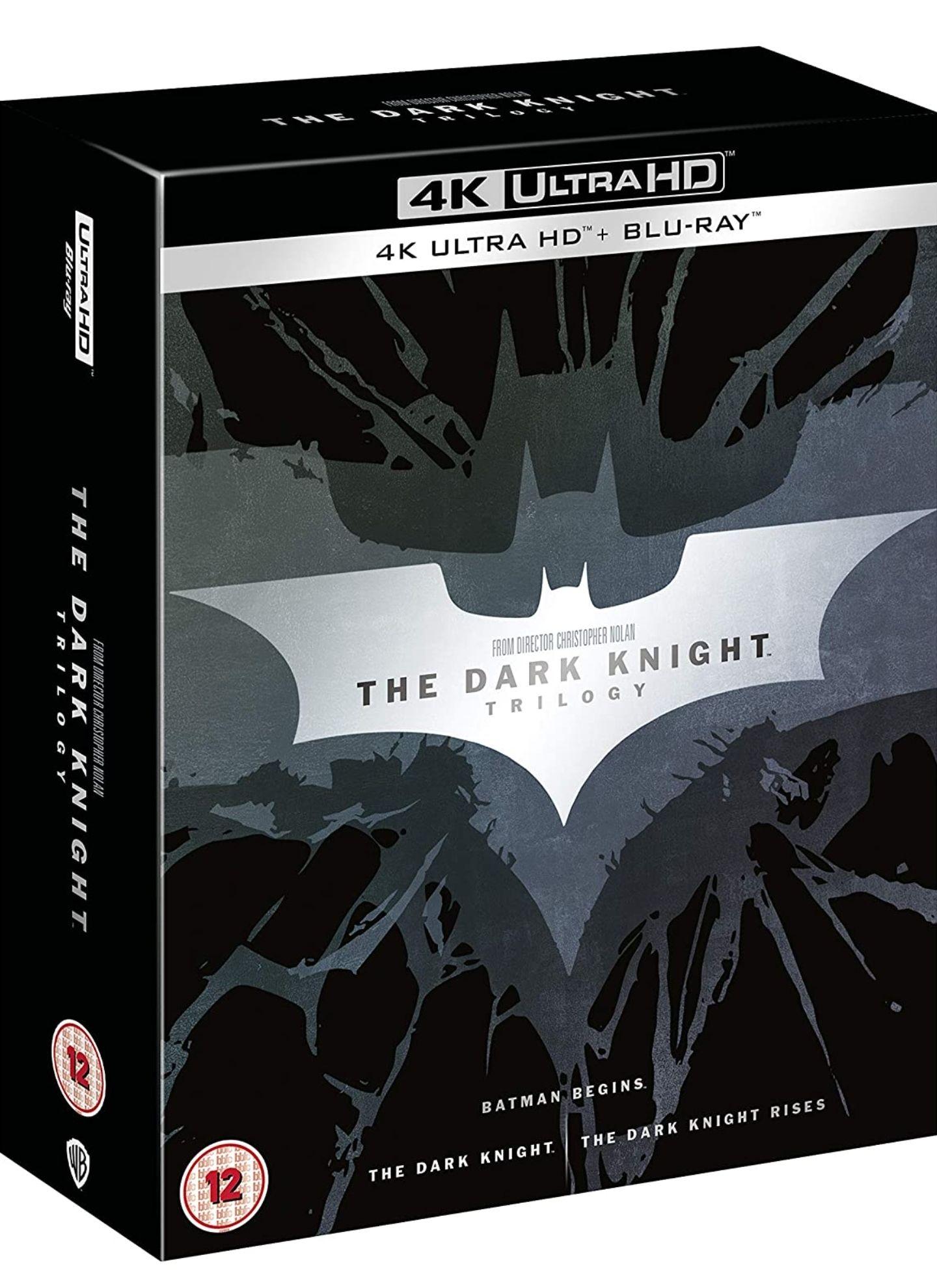 The Dark Knight Trilogy [Batman] [4K Ultra HD] [2012] [Blu-ray] 2017 Edition Boxset £30.40 Amazon