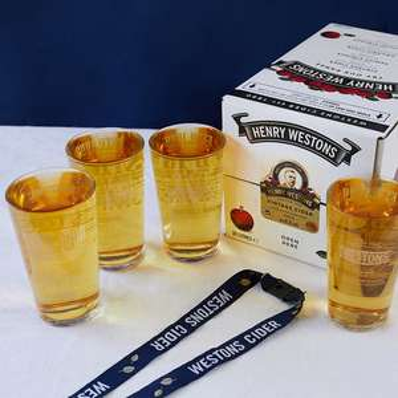 Henry Westons Cider Bundle £40 + £4.99 shipping at Westons Cider