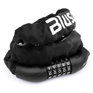 Blusmart Heavy Duty bicycle chain lock with 5-digit combination for £8.49 Prime delivered (+£4.49) using code @ PFUK / Amazon