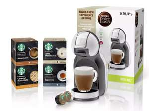 Nescafe Dolce Gusto Krups Mini Me Starbucks Coffee Bundle £55 @ Argos with free click and collect + 2 year guarantee!