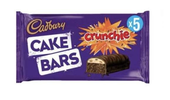 5pk Cadbury Crunchie Cake Bar 79p / 1.35kg Heinz Ketchup £2.59 @ Farmfoods