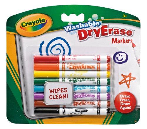 CRAYOLA Dry Erase Washable Dry Erase Markers £2 Prime / £6.49 Non-Prime @ Amazon