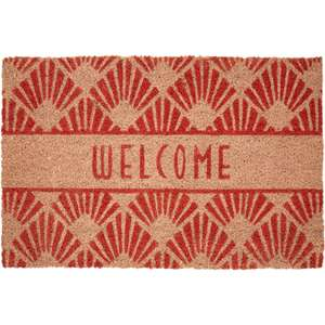 Mimio Living welcome doormat in red (61 cm x 41 cm) for £8.98 click & collect @ TK Maxx