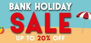 Bank Holiday Sale - 10% off £50 / 15% off £80 / 20% off £200 spend, using code @ Stock Must Go