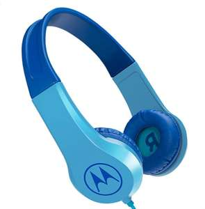 Motorola Squads 200 Kids Wired Headphones with Anti-Allergic Cushion and In-Line Microphone - Blue - £6.93 (+£4.49 Non Prime) @ Amazon