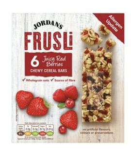 Jordans Frusli Cereal Bars 6x30g [Red Berries, Blueberries, Raisin & Hazelnut] - £1 @ Sainsbury's