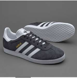 Adidas gazelle mens trainers in grey - £15 (+£4.50 Delivery) @ Pro Direct Soccer