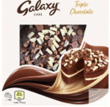 Galaxy Triple Chocolate Cake - £2 Clubcard Price @ Tesco