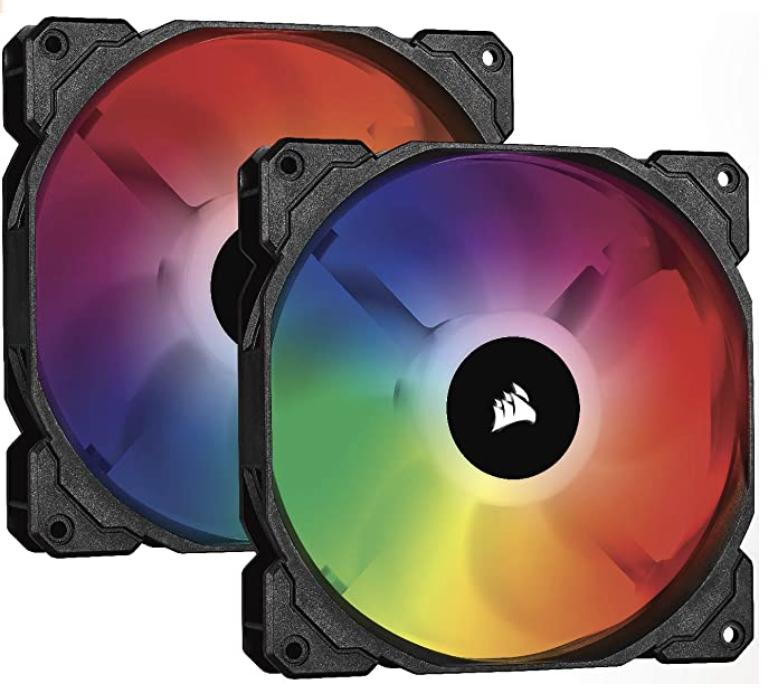Corsair iCUE SP140 RGB PRO, RGB LED, Low-Noise, High Airflow, Case Cooling Fan (Dual Pack), 140 mm - £27.95 @ Amazon