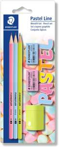 STAEDTLER Pastel Stationery with Pencils, Sharpener and Eraser - £1.78 (+£4.49 Non Prime) @ Amazon
