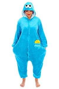 Cookie Monster Onesie/Body Suit, Unisex-Adult, Large £7.33 (Prime) + £4.49 (non Prime) at Amazon
